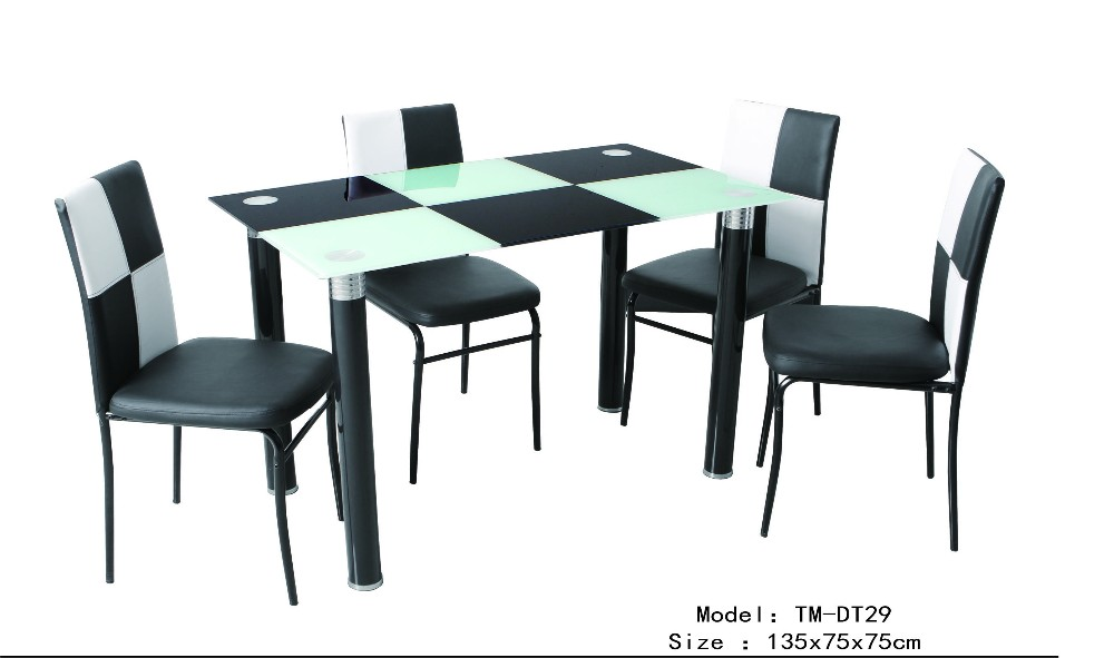 2016 Durable Elegant Design Living Room Tempered Glass Dining Table And Chair
