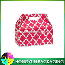 CMYK printing house shape flat pack gift box for christmas