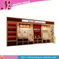 wooden peg display stand, MX7372 cosmetic lipstick display case