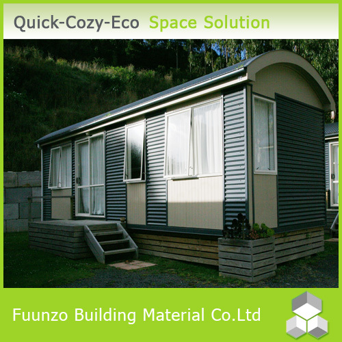 Sandwich Panel Living Prefabricated Decorated Green Garden Log Cabin