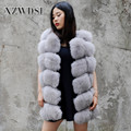 CX-G-B-243L Fashion Style Hot Sale Different Colors Animal Fox Fur Vest