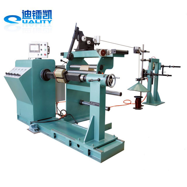 Capacitor coil winding machine