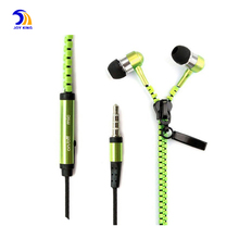 High Quality Metal Bass MP3 Headphone In Ear Zipper Earphone For Mobile Phones