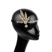 Vintage Bridal Headpiece Costume Accessory Great Gatsby Hiar Rhinestone <strong>Headband</strong>