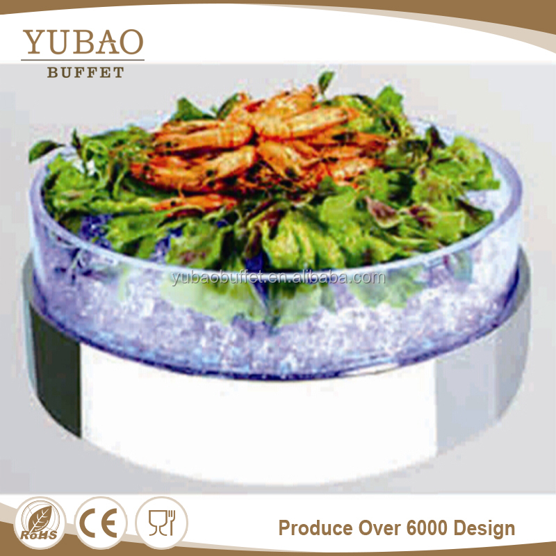Catering Restaurant Equipment Wholesale Cold Storage , Led Light Large Cold Food Display Case