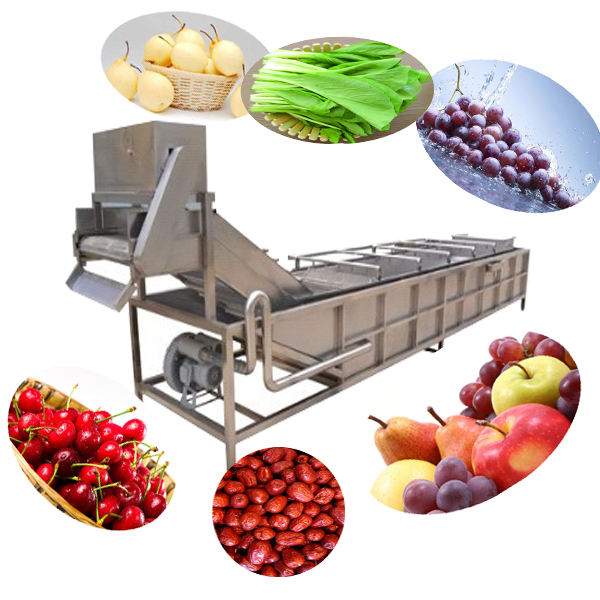 Industrial automatic xcj-8g ozone fruit and vegetable washer machine