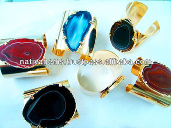 SOUTH BRAZILIAN AGATE CUFFS