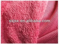 The popular cheapest high quality fake sherpa fleece fabric make in china of 2013
