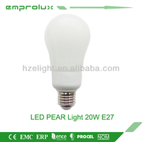 modern PEAR 20W Pear 2013 cheap energy saving wholesale led bulb light Chinese manufacturer