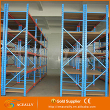 4 layers powder coated slotted angle longspan shelving,factory price