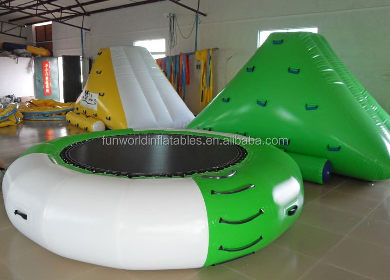 2015 cheap inflatable water trampoline / water blob trampoline for kids and adult