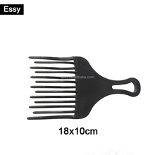 Large wide tooth afro hair comb hot plastic comb