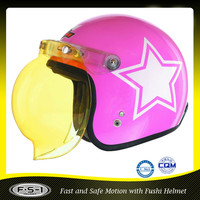 Pink girls mini open face motorcycle helmet