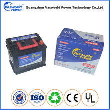 Good CCA 12v 62ah Rechargeable Electrical Car Battery MF Battery