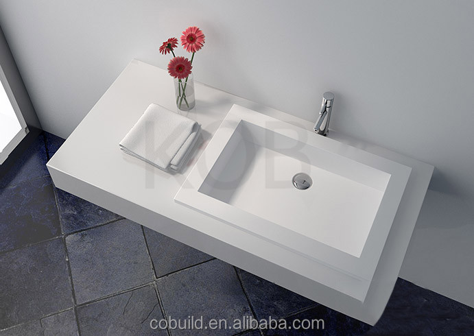 CK2017 easy to clean wall hung public bathroom sinks