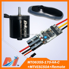Maytech 6355 170KV electric sensor motor for electric skateboard with remote and VESC 50a for skateboard (3pcs)