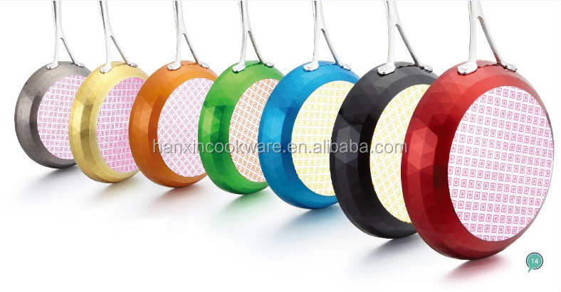 diamond frying pan/non-stick fry pan,colorful cookware