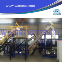 pet flakes hot washing machine recycling line