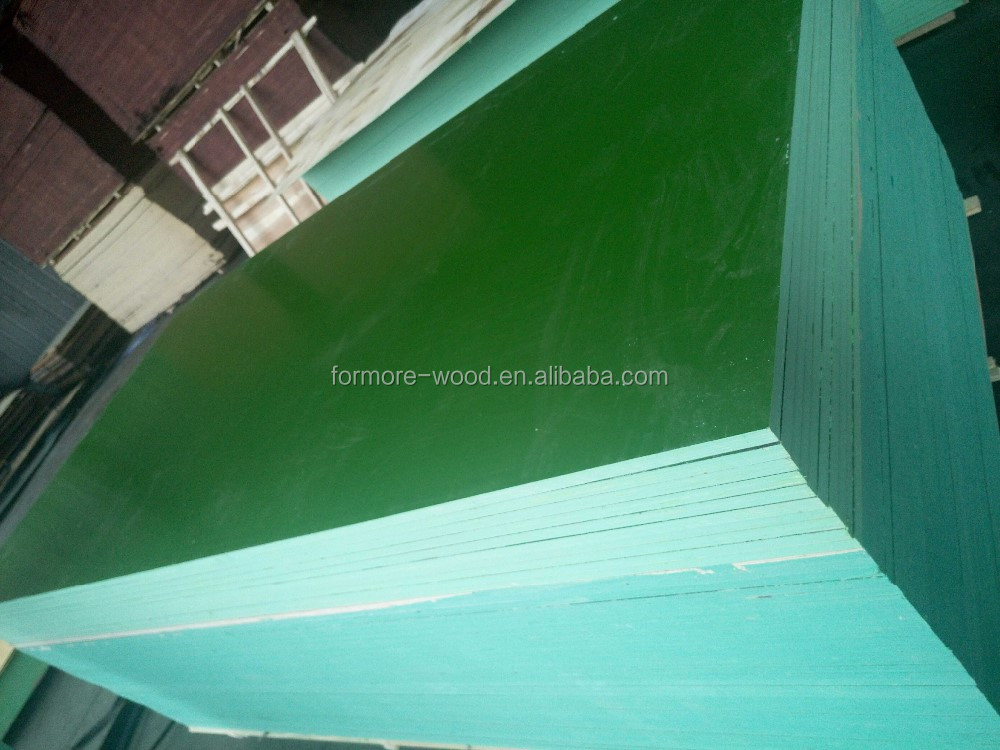 Green PP plastic film faced plywood / Ply wood / marine plywood