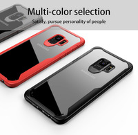 Stylish aseismic airbag TPU+PC HD transparent Bumper Rugged Hybrid case Shockproof clear cell phone case for iPhone X s9 plus