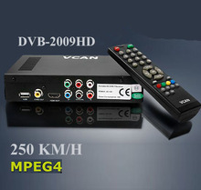 Samsat hd 80 digital satellite DVB-T2009HD-69 portable dvb-t tv receiver box with USB upgrade,2 Tuner,250KM/H speed for car