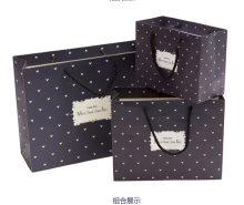 High Quality And Fancy Customized Black Printed Luxury Gift Paper Shopping Bag