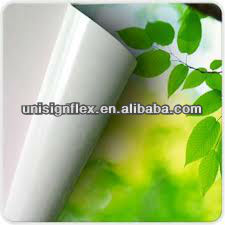 self adhesive vinyl(white/ grey/ black glue)