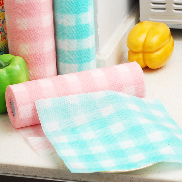 Eco friendly biodegradable compostable household nonwoven discloth in rolls