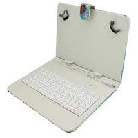 Wired PU Leather Case Bluetooth Keyboard With Case for iPad2