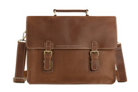 Wholesale Vintage Brown Leather Briefcase, Men Messenger Bag, Laptop Bag 7035B-1