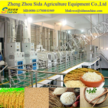 2017 small diesel engine rice milling machine