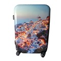 Romantic Style ABS Printed Travel Luggage PC Strong Wheeled Luggage