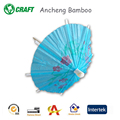 colored disposable cocktail umbrella pick with bamboo stick