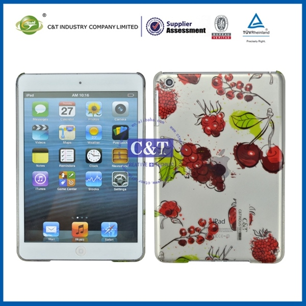 Customized vintage flower pattern pc case for mini ipad