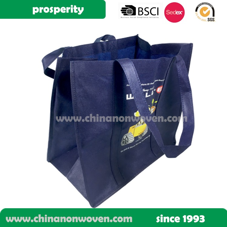 Non woven long handle customized tote bag, large foldable recycle shopping bag