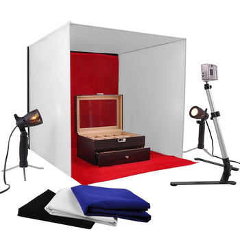 Table Top Photo Photography Cube Studio Lightening Light Tent Kit In A Box  60cm