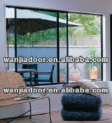 Classical type aluminum double single pane sliding windows