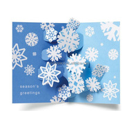 paper cut greeting card, folded holidays card retail