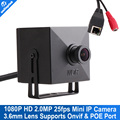 Color Black Mini Size 43x43mm 2MP Full HD IP Camera With POE Port 3.6mm Lens Support Mobile View