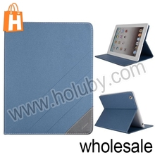 Frosted Foldable Folio Stand Design TPU+PU Leather China Supplier Case for iPad 2/3/4