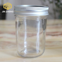 Food grade wide mouth glass canning jars with metal lids made in China