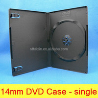 14mm black pp single/double locking dvd cases