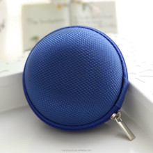 colorful round small earphone eva case