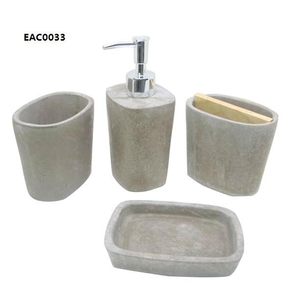Cement or concrete bathroom accessories sets natural stone bathroom soap dispenser buy natural