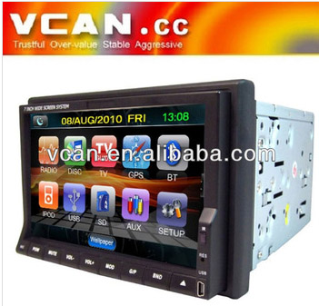 2 din car navigation s60 gps DVD Build-in TV modes Bluetooth and touch screen VCAN0771