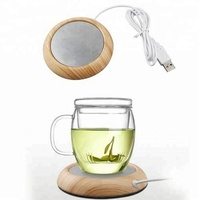 New Products USB Heating Coaster Water Cup Thermostat Office Tea Cup Heating Pad Warm MilkWood Warmer Coasters