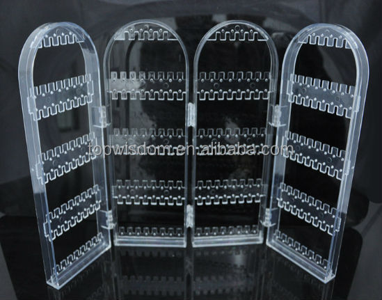 Hot sale clear acrylic jewelry nacklace box stand <strong>display</strong>