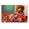 Tasty Fruit Canvas Prints Art/Strawberry Kitchen Canvas Art/Blueberry Framed and Stretched Canvas Print