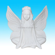 white color DIY angle ceramic figurines to paint for sale