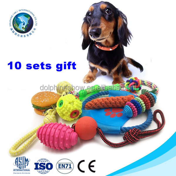2017 Free Combination Cheap Chew Pet Toys For Dog Fashion LOW MOQ Durable Rope Dog Toy Sets 10 Pack